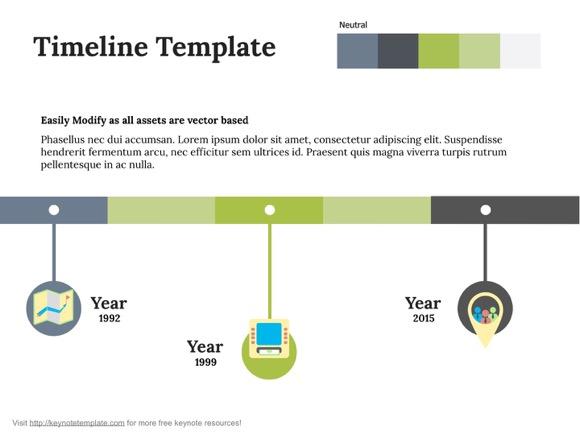 Keynote Timeline Template 1