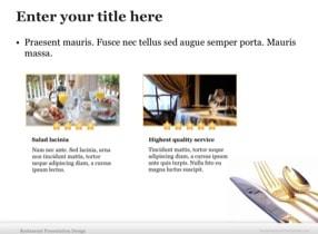 Restaurant Keynote Theme - Slide 6