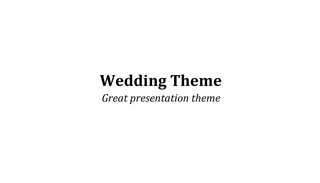 Wedding Keynote Theme