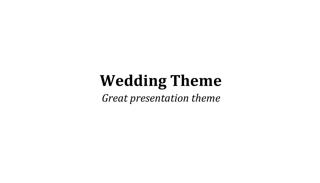 Wedding Keynote Theme