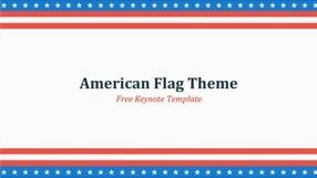 American Flag Keynote Template 1 - American Flag