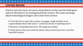 American Flag Keynote Template 2 - American Flag