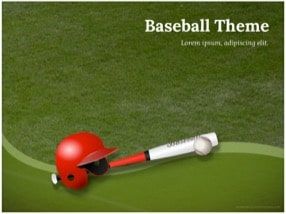 Baseball Keynote Template 1 - Baseball