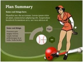 Baseball Keynote Template 6 - Baseball