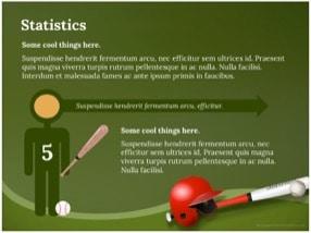 Baseball Keynote Template 7 - Baseball