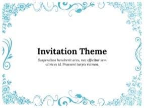 Invitation Keynote Template 1 - Invitation