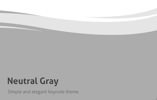 Neutral Gray Keynote Template 320x204 - Neutral Gray