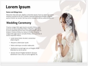 Wedding Bride Keynote Template 3 - Bride