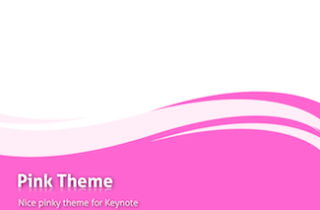 Pink Keynote Template 320x210 - Liquid Pink