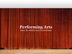 Arts Keynote Template 1 - Performing Arts
