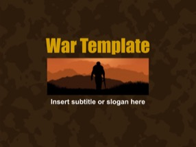 Camouflage Keynote Template 1 - War Camouflage