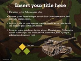 Military Keynote Template 3 - Military