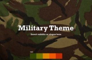 Military Keynote Template 320x210 - Military