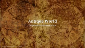 Antique World Keynote Template 1 - Antique World