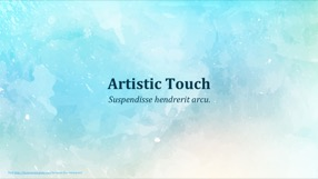 Artistic Touch Keynote Template 1 - Artistic Touch