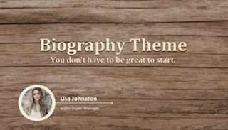 Biography Keynote Template 320x183 - Biography