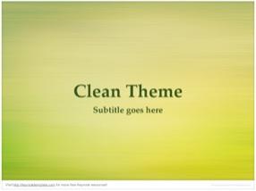 Clean Keynote Template 1 - Clean