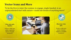 Golden Keynote Template 8 - Golden Yellow