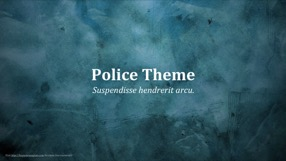 Police Keynote Template 1 - Police