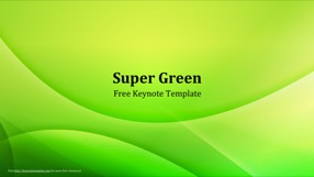 Super Green Keynote Template 1 - Super Green