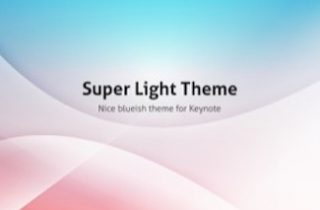 Super Light Keynote Template 320x210 - Super Light