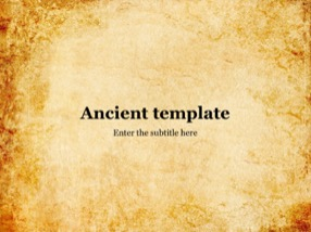 Ancient Keynote Template 1 - Ancient