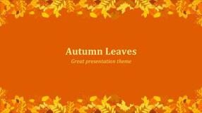 Autumn Leaves Keynote Template 1 - Autumn
