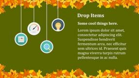 Autumn Leaves Keynote Template 3 - Autumn