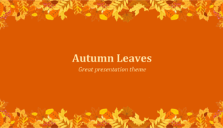 Autumn Leaves Keynote Template