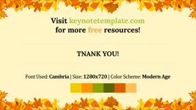 Autumn Leaves Keynote Template 7 - Autumn