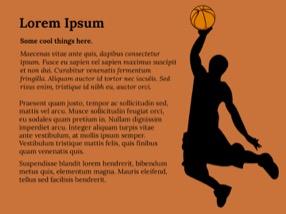 Baskeball Keynote Template 6 - Basketball