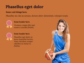 Baskeball Keynote Template 7 - Basketball
