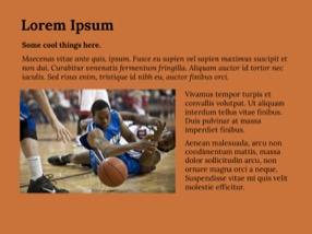 Baskeball Keynote Template 8 - Basketball