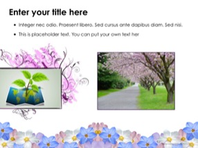 Flowers Keynote Template 5 - Flowers
