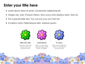 Flowers Keynote Template 6 - Flowers