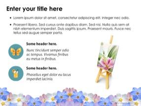 Flowers Keynote Template 8 - Flowers