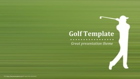 Golf Keynote Template 1 - Golf