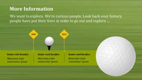 Golf Keynote Template 5 - Golf