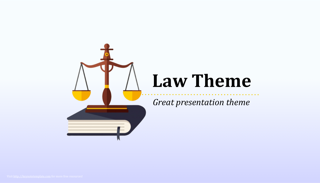 Law Order Keynote Template