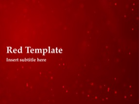 Red Keynote Template 1 - Red