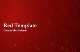 Red Keynote Template - FREE
