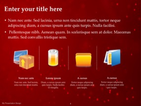 Red Keynote Template 4 - Red