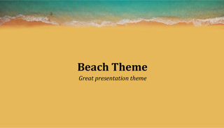 Summer Beach Keynote Template